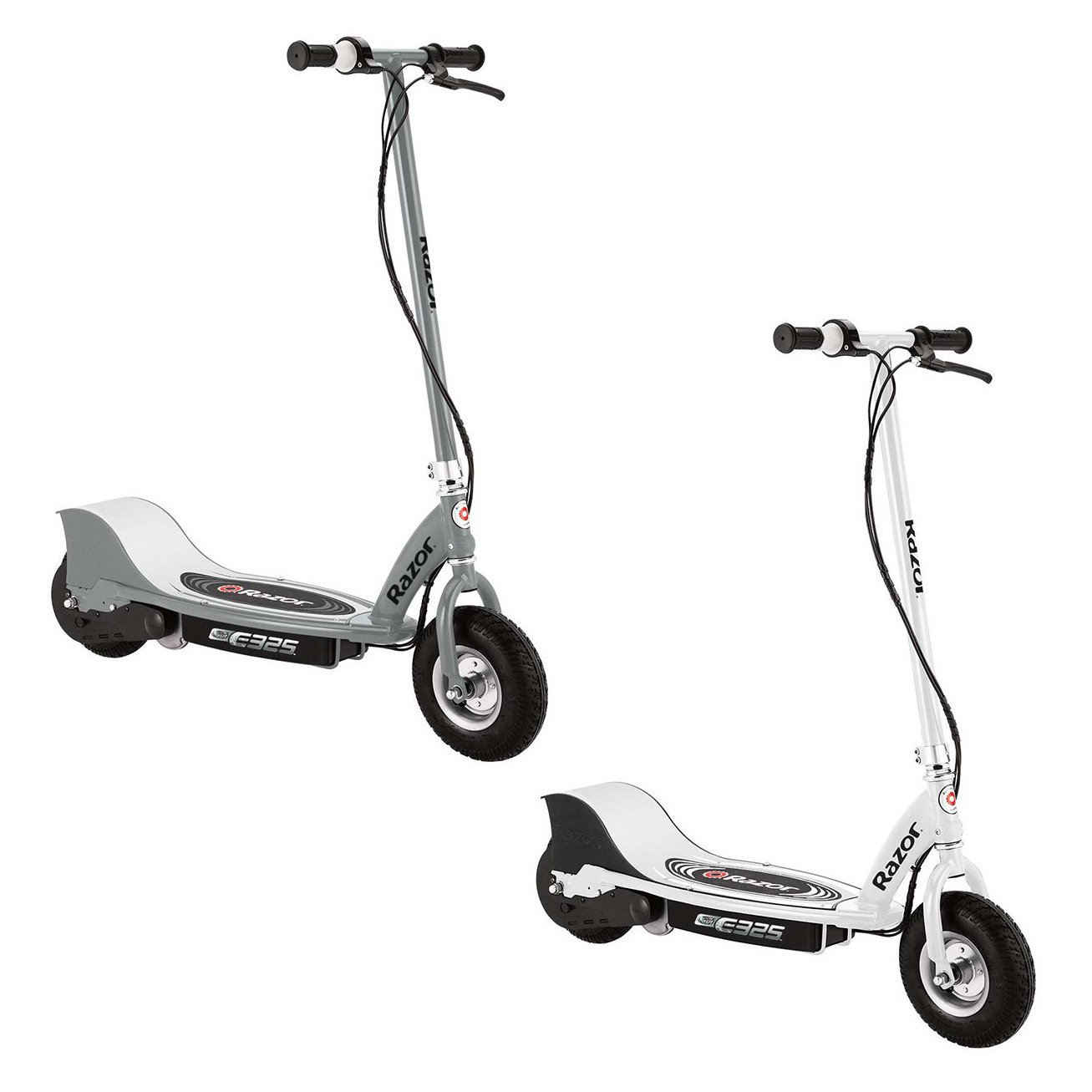 Razor E325 Electric Battery Motorized Ride On Kids Scooters, 1 White & 1 Silver by Razor