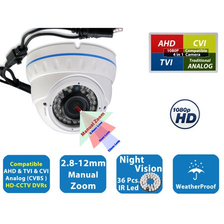 Evertech 1080P 2.1MP Full HD Security Cameras with IR LED Night Vision