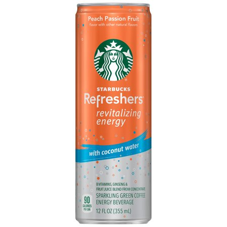 Starbucks Refreshers Energy Coffee Drink, Peach Passion Fruit, 12 Fl (Best Low Carb Drink At Starbucks)