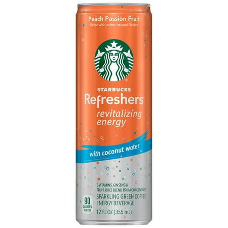 Starbucks Refreshers Energy Coffee Drink, Peach Passion Fruit, 12 Fl Oz (Starbucks Halloween Frappuccino)