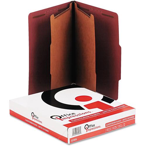 Office Impressions Pressboard Classification Letter Folders, 10-Pack