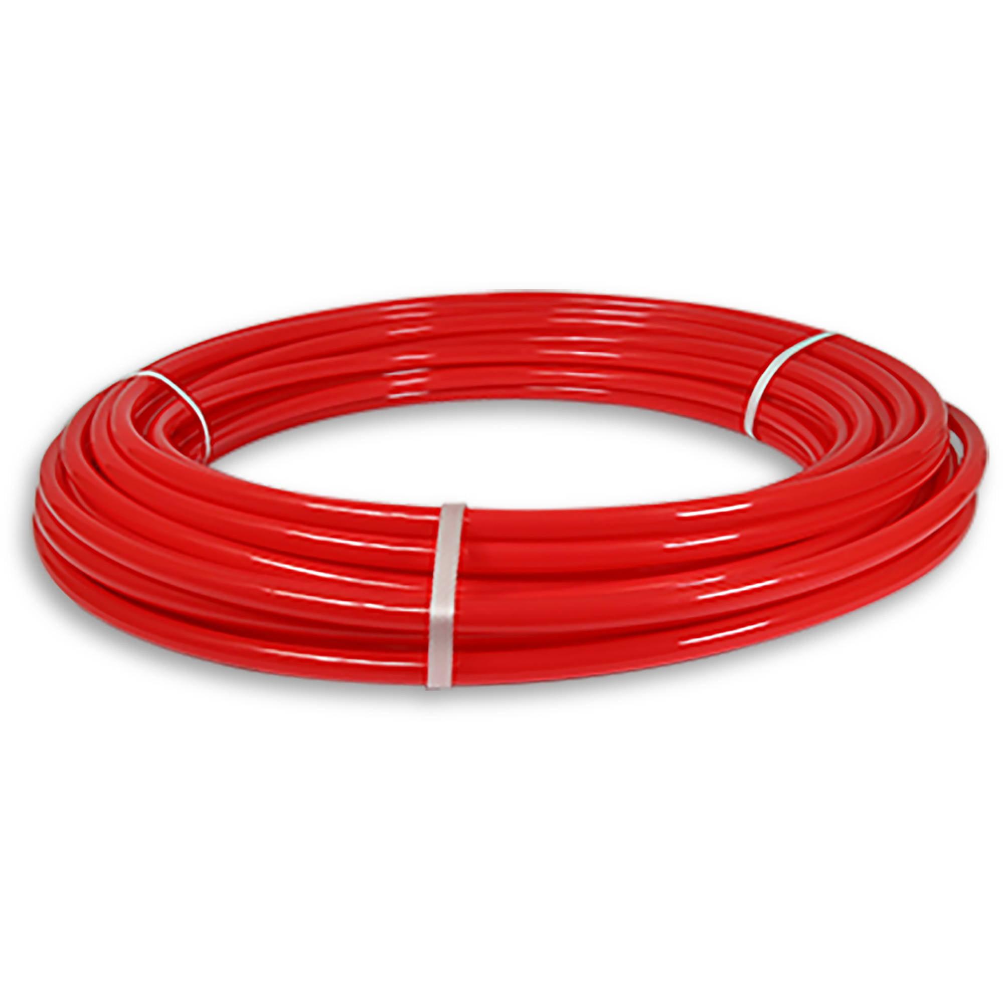 "Pexflow PFW-R12100 Pex Tubing, Potable Water Red, 1/2"" x 100' (30.3m)"
