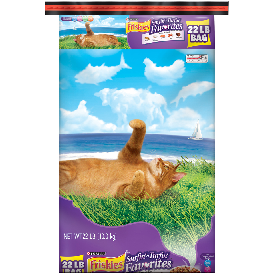Friskies Surfin' & Turfin' Favorites Adult Dy Cat Food (various Sizes)