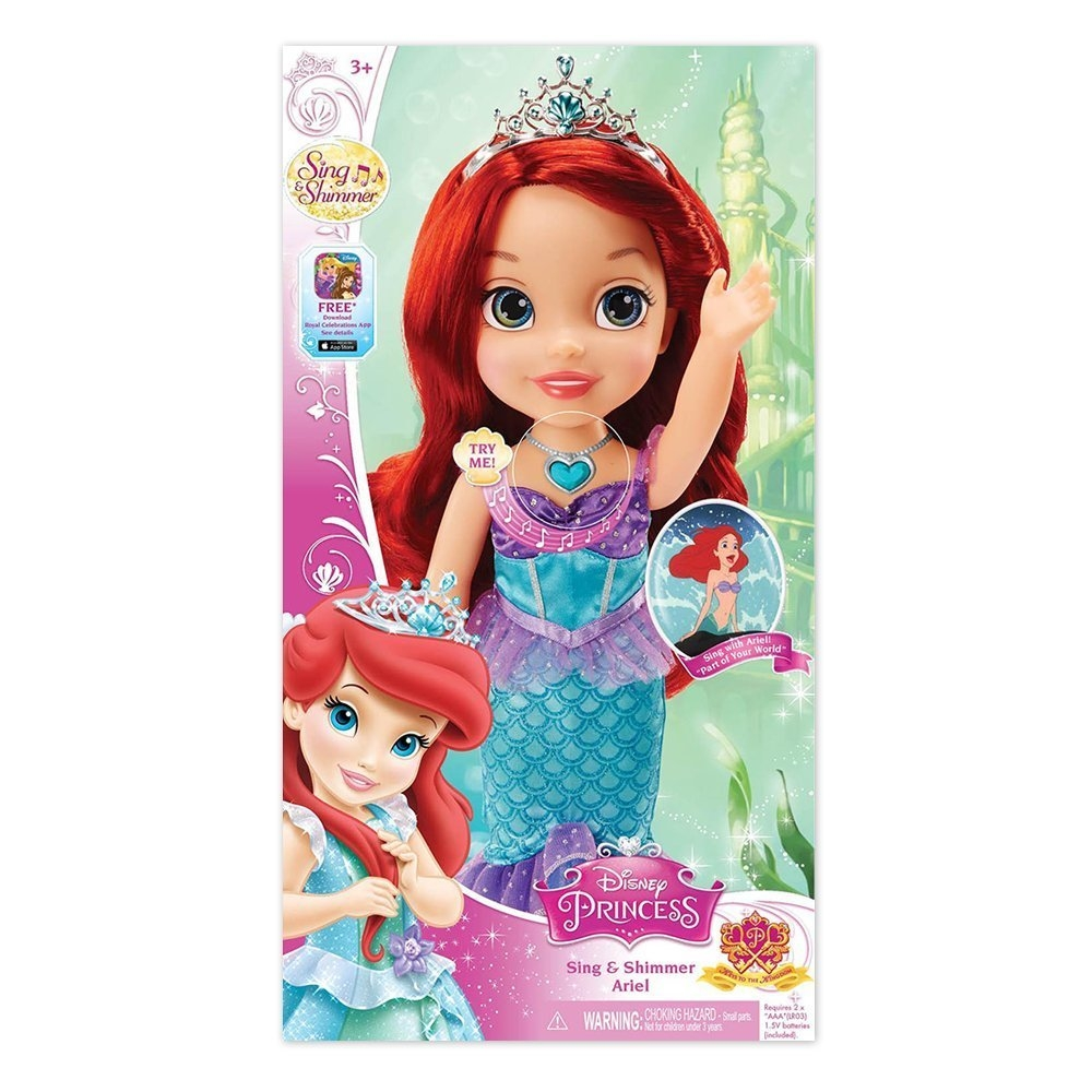 Tolly Tots Disney Princess Sing and Shimmer Toddler Doll - Ariel