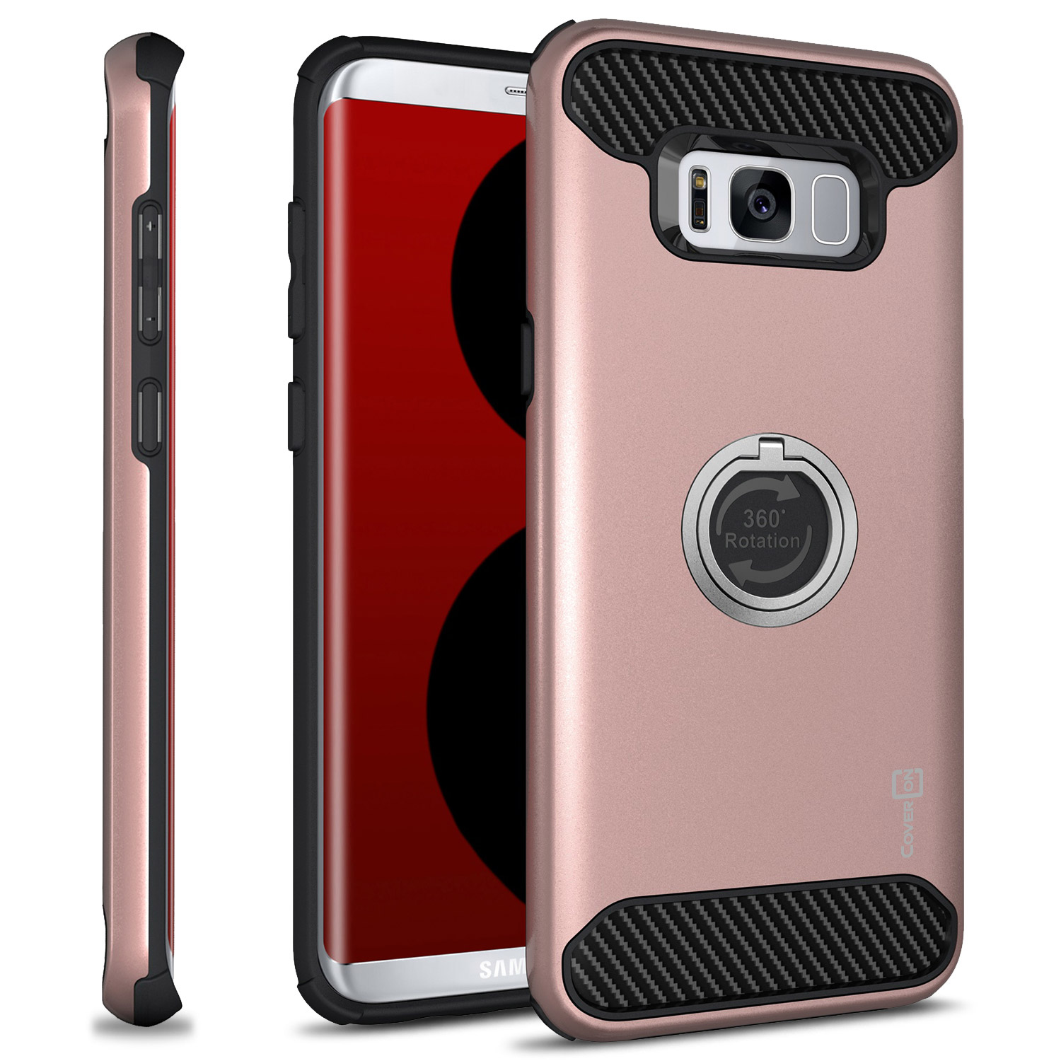 CoverON Samsung Galaxy S8 Case, RingCase Series Hybrid Protective Phone Cover with Grip Ring