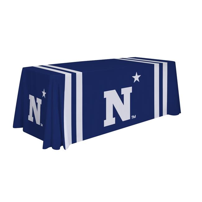 Victory Corps 810026NAVY-002 Navy Midshipmen 6ft. NCAA Dye Sublimated Table Throw - No.002