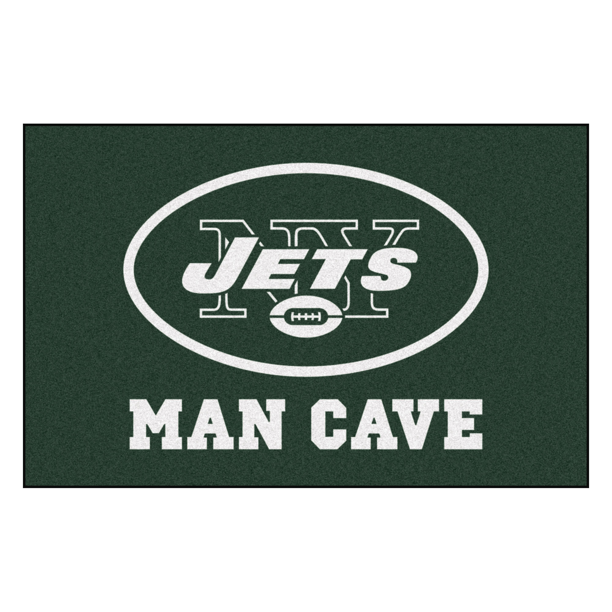 NFL New York Jets Man Cave Starter Rectangular Mat Area Rug