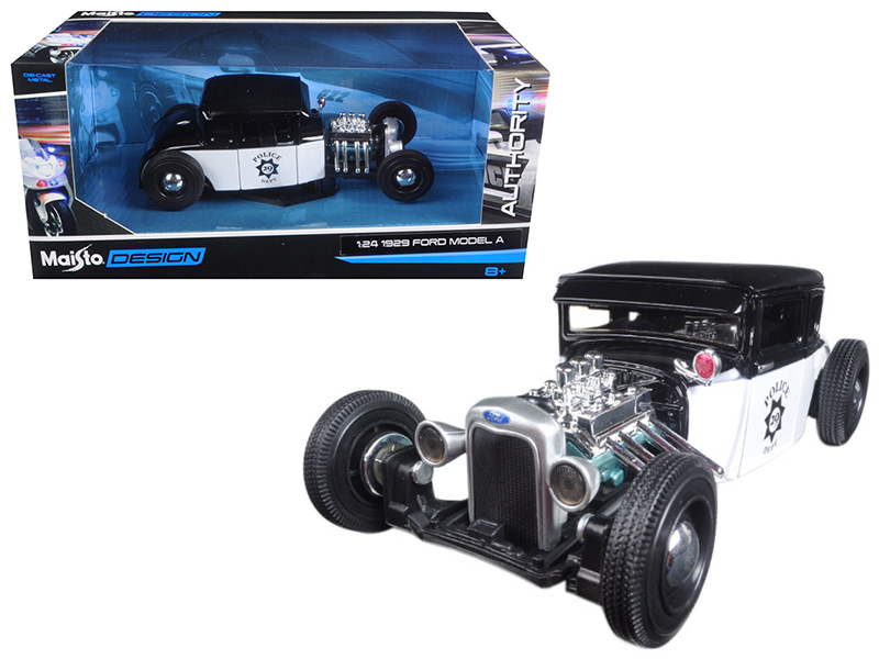 1929 Ford Model A Police Car 1 24 Diecast Model Car by Maisto by
