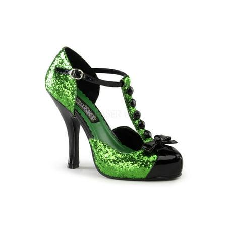 Green Glitter Dress Shoe Pleaser Festive-10