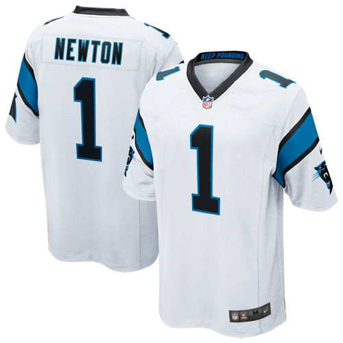 Mens Carolina Panthers Cam Newton Nike White White Game Jersey