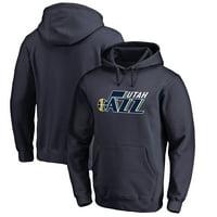 Utah Jazz Fanatics Branded Primary Logo Pullover Hoodie - Navy