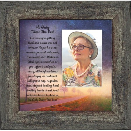 He Only Takes The Best, Religious Memory Gift, Beloved, Sympathy Gift in Memory of a Loved One, Condolence Gift of Gift of Comfort, 10x10 6385 Take 1 Picture