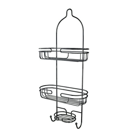 Splash Home Marianne Shower Caddy Bathroom Hanging Head Two Basket ...