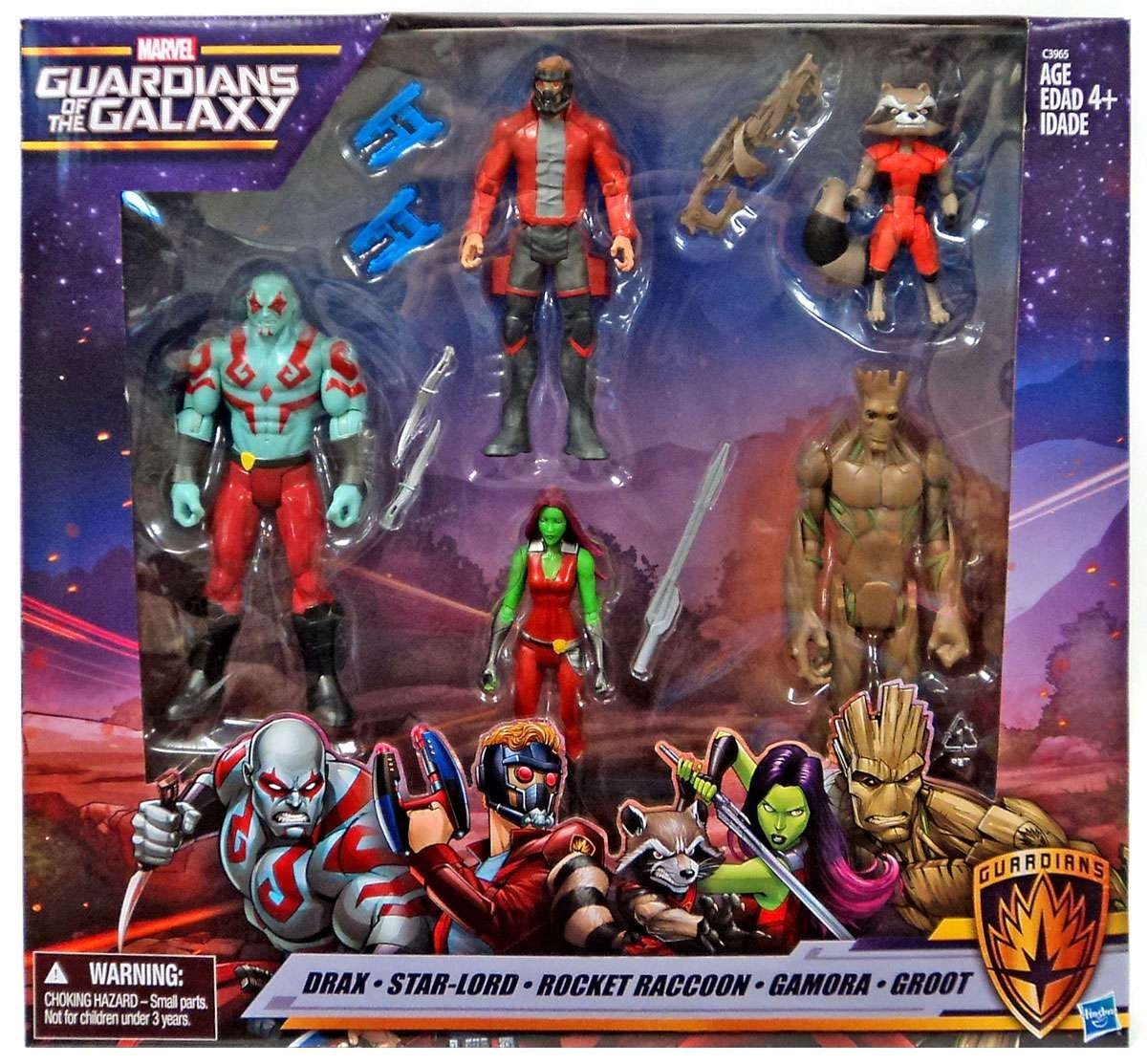 Marvel Guardians of the Galaxy Drax, Star-Lord, Rocket Raccoon, Gamora, Groot by MARVEL