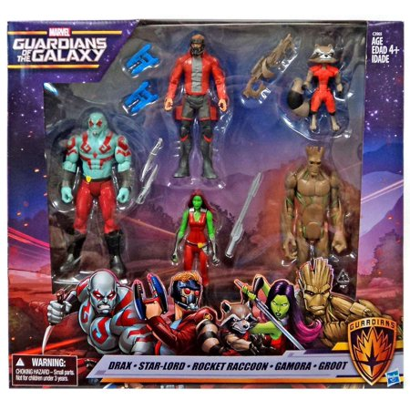 Marvel Guardians of the Galaxy - Drax, Star-Lord, Rocket Raccoon, Gamora, Groot