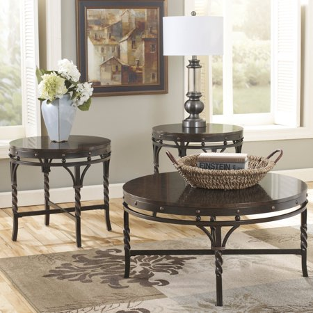 Signature Design By Ashley Brindleton Brown Occasional Table - Set ...