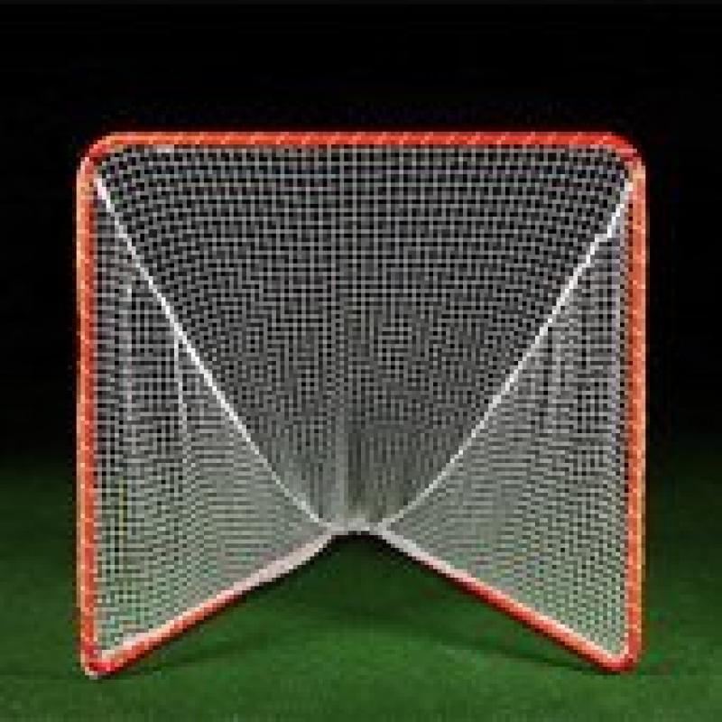 Brine Backyard Lacrosse Goal (Net Included), 6 x 6 x 7-Feet, Orange by