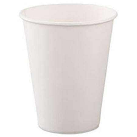 Solo 670-378W-2050 8 oz. Cup Company Polycoated Hot Paper Cups - Teen Solo Hot