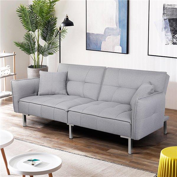 Easyfashion Modern Sofa Bed Gray