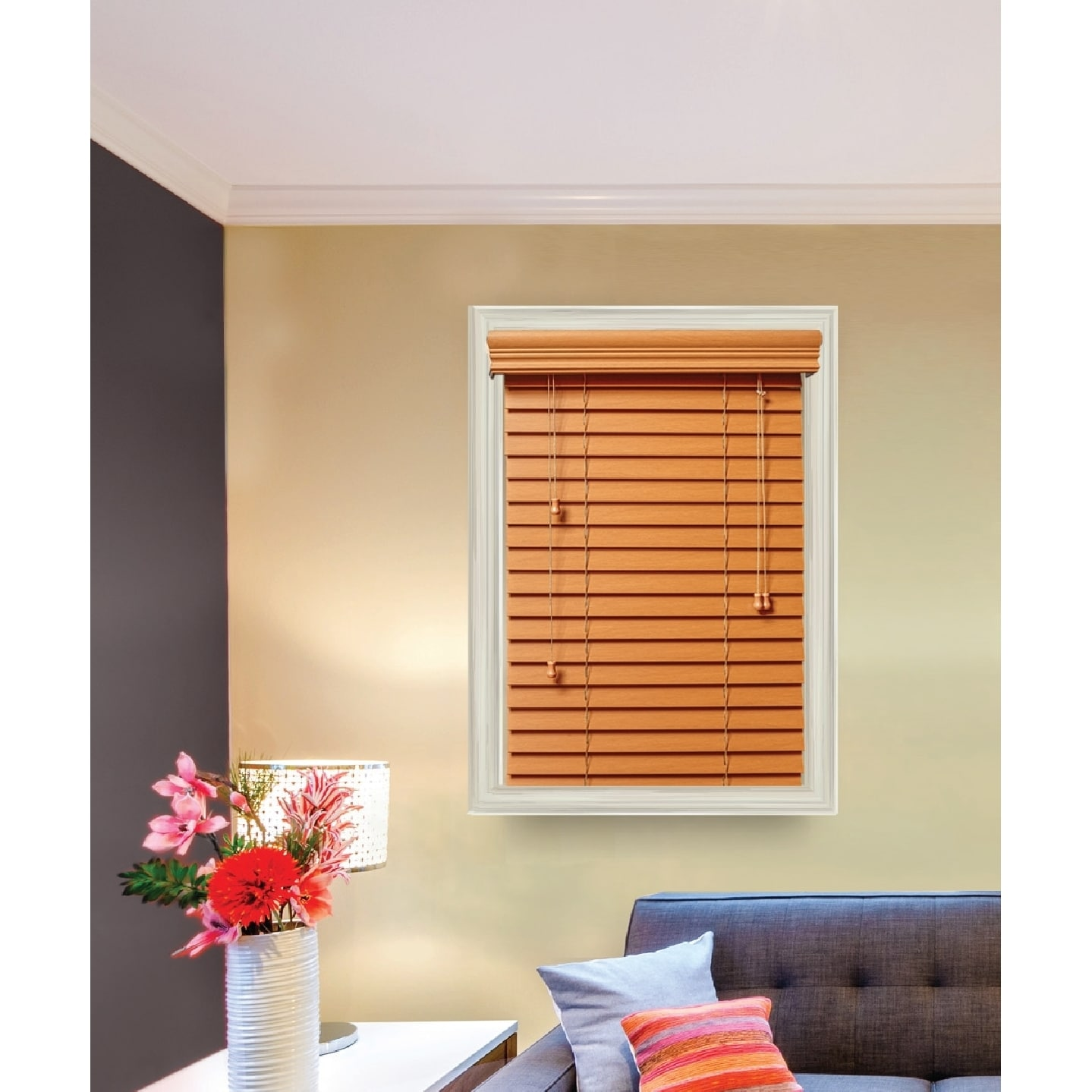 Lotus /& Windoware 2 INCH Faux Wood Blind 27 X 72