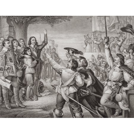 The Opening Scene Of The Great Civil War Charles I Erecting His Standard At Nottingham August 25 1642 Engraved By T Bauer After Cwcope From The Book Illustrations Of English And Scottish History Volum
