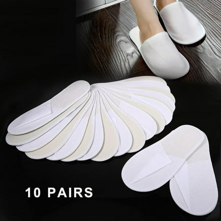 Spat Shoes (VBESTLIFE 10 Pairs/Lot Disposable Guest Slippers Travel Hotel Slippers SPA Slipper Shoes Comfortable New, Disposable Slipper, Guest)