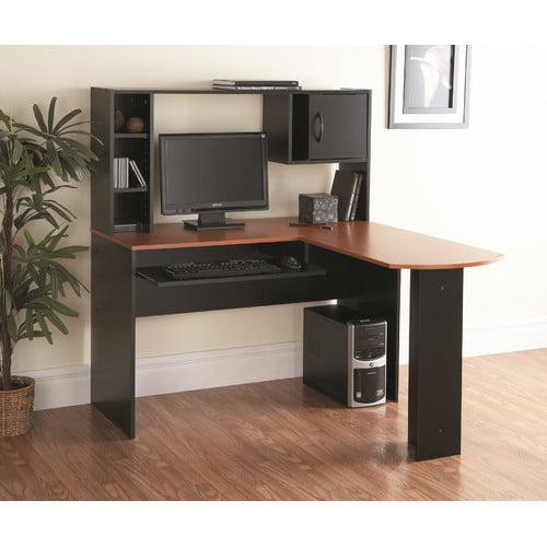 Mylex L-Shape Computer Desk with Hutch