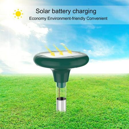 2pk Yard Solar Power Ultrasonic Sonic Mouse Mole Pest Rodent Repeller Repellent