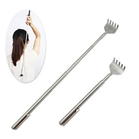 Jeobest 1PC Back Scratcher - Telescoping Back Scratcher - Back Scratcher Extendable Stainless Steel Telescoping Portable Back Scratcher Itch Scratch Tool MZ - Extendable Back Scratcher