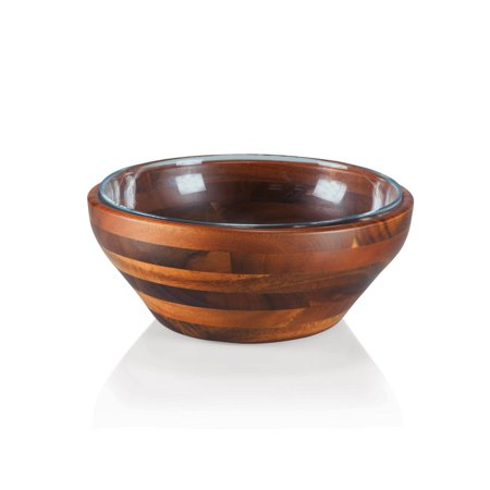 Picnic Time Fabio Viviani Carovana Nested Wood and Glass Bowl Set (000 Bowls)