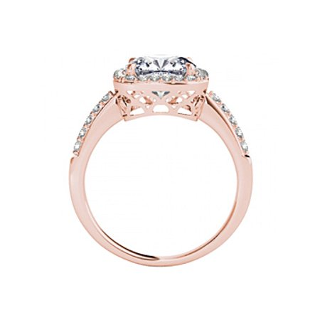 2.50 ct tw Square CZ Halo Engagement Ring Gold Vermeil - image 3 of 5