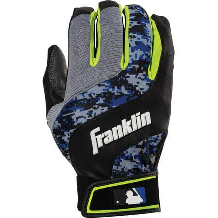 Charlotte Baseball - Franklin Sports MLB Digital Shokwave Youth Baseball Batting Gloves, Multiple Colors