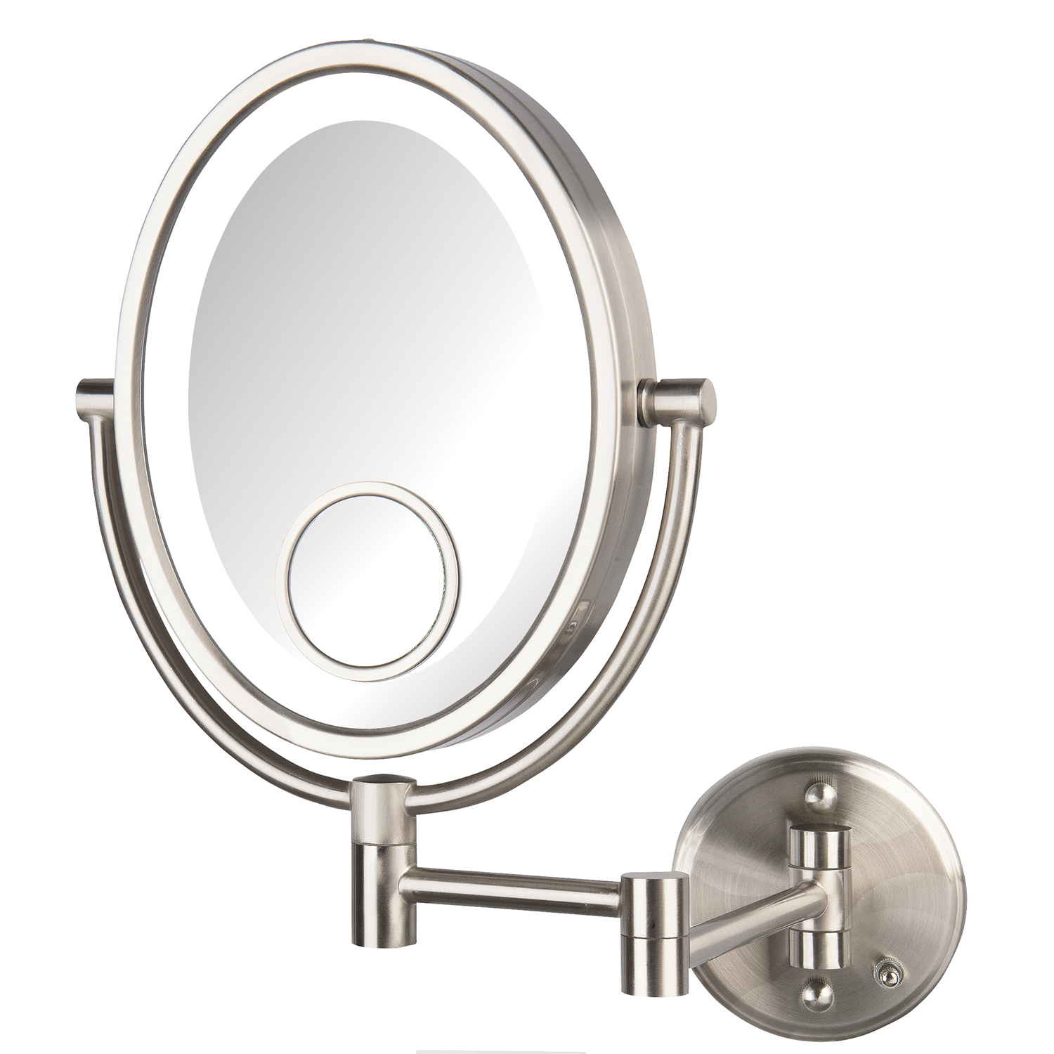 Jerdon HL9515NLD 10X LED Lighted Wall Mirror, Direct Wire