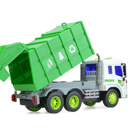 Large 1/16 Garbage Truck Bin Lorry Light & Sound Rubbish Recycling Trash Car - image 2 of 5