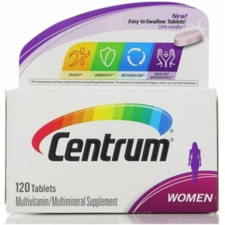 Centrum femmes multivitamines comprimés, 120 ch (Pack de 6)