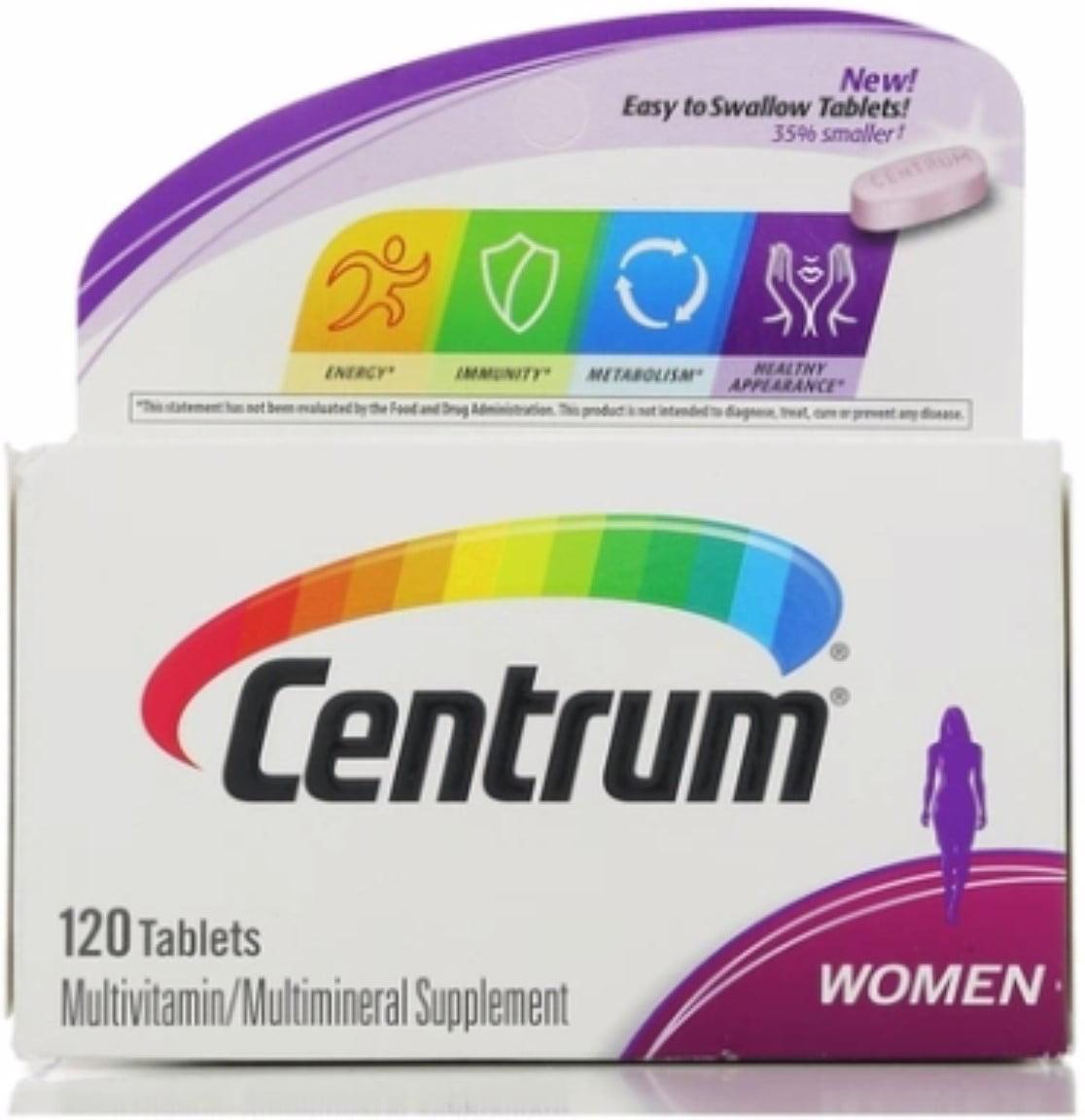 Centrum Women Multivitamin Tablets, 120 ea (Pack of 6)