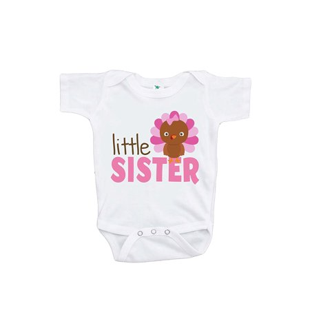 dfa085414 Custom Party Shop Baby Girl's Little Sister Thanksgiving Onepiece - 3-6  Month Onepiece