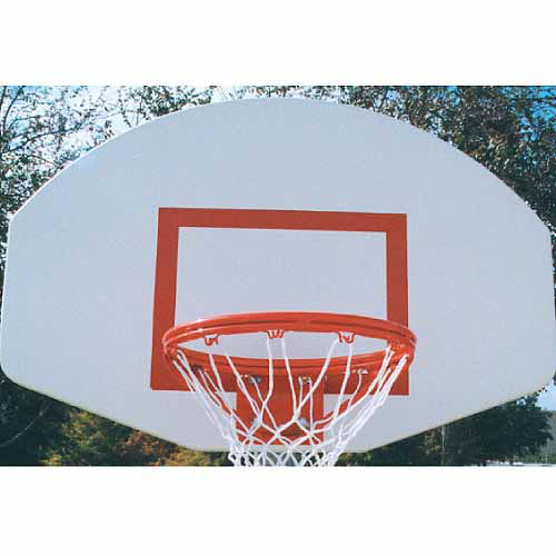MacGregor Powder-Coated Aluminum Backboard with Goal and Net, White