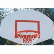 MacGregor Powder-Coated Aluminum Backboard with Goal and Net, White