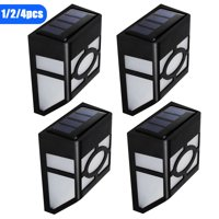 EEEKit 4/2/1PCS Solar Wall Lights Outdoor, Waterproof Solar Deck Fence Lights Garden Decorative LED Lighting for Deck Fence Patio Front Door, Wall Stair Landscape Yard and Driveway Path