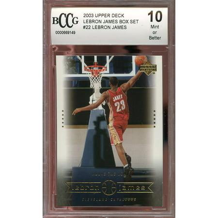 2003 upper deck lebron james box set #22 LEBRON JAMES rookie card BGS BCCG