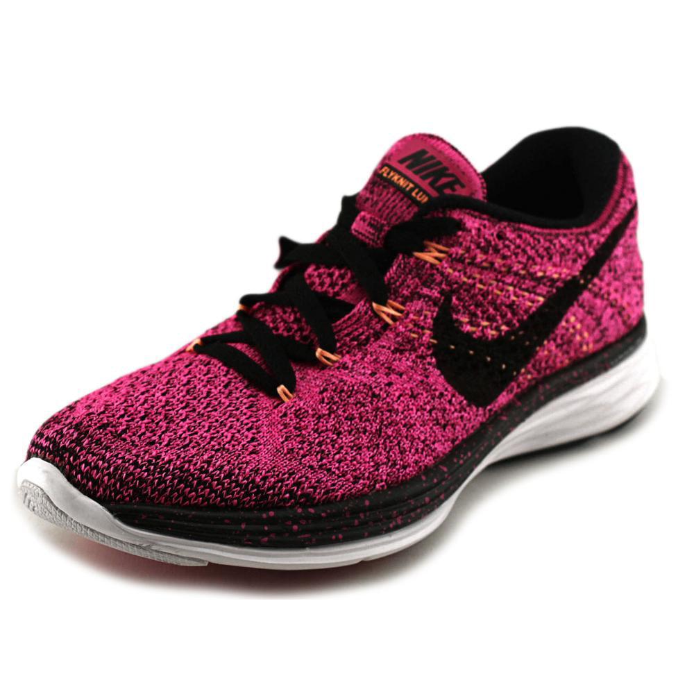 nike flyknit lunar 3 women us 6.5 pink running shoe
