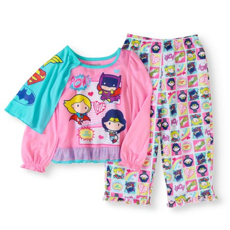 Justice League Toddler Girls' Pajamas With Cape 2-Piece Set for $<!---->