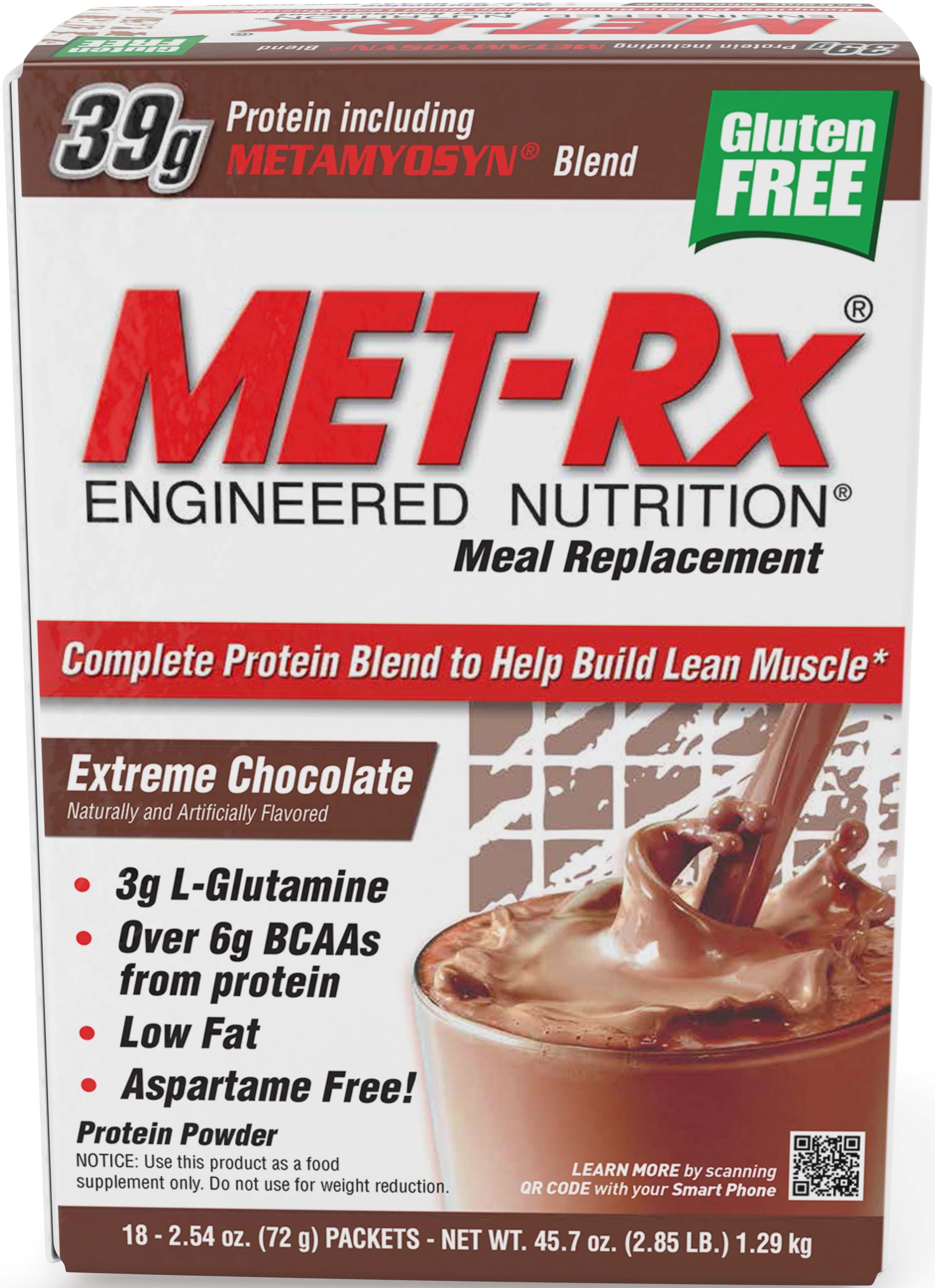 Met Rx Original Meal Replacement Extreme Chocolate 18 Ct Walmart Com Walmart Com