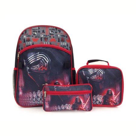 8a8dd02ddff7 Kylo Ren 15 Inch School Bag Backpack Lunch Bag with Pencil Case Set for Kids