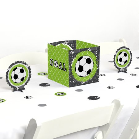 goaaal! - soccer - birthday party or baby shower centerpiece & table decoration kit (Soccer Banquet Centerpieces)