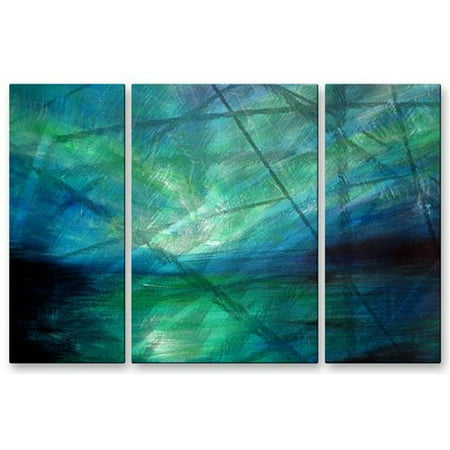 All My Walls 'Sea Of Aurora' by Michael Grubb 3 Piece Graphic Art Plaque - Michael Wall Plaque