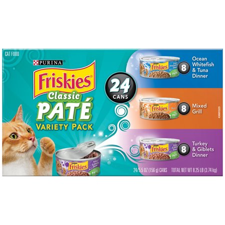 Purina Friskies Classic Pate Adult Wet Cat Food Variety Pack   24  5 5 Oz Cans