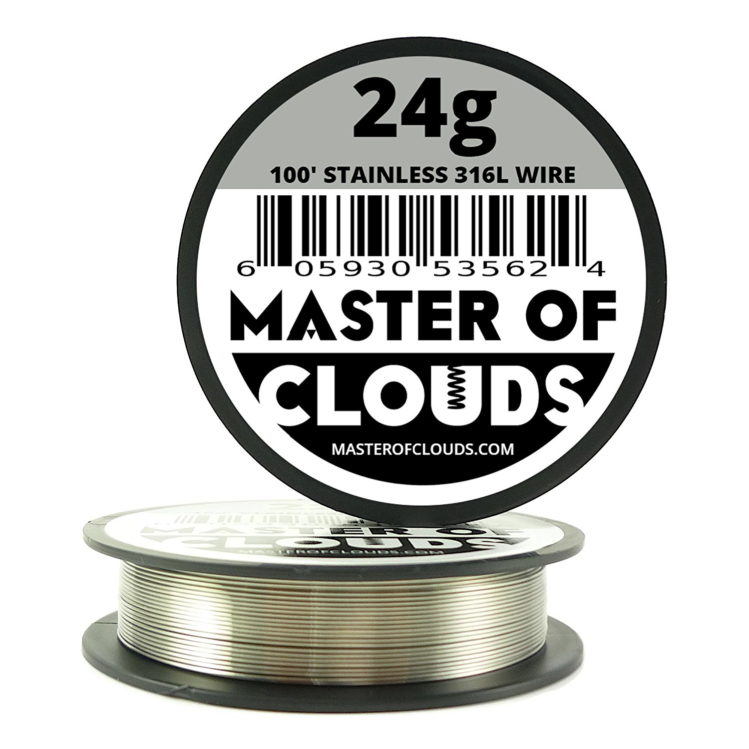 Ss 316l 100 ft 24 gauge awg stainless steel resistance wire 051 24 gauge awg stainless steel resistance wire 051 mm 24g 100 walmart greentooth Gallery