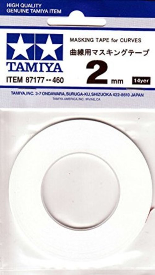 Tamiya USA TAM87177 Masking Tape for Curves 2mm